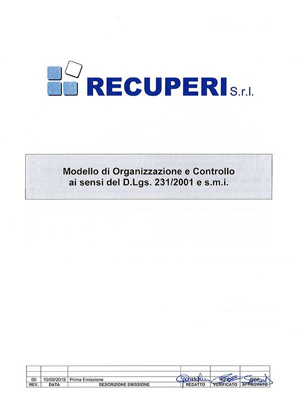 Modello di Organizzazione e Controllo